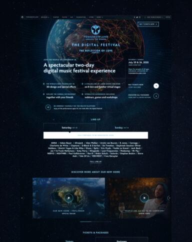 Tomorrowland atw landing page